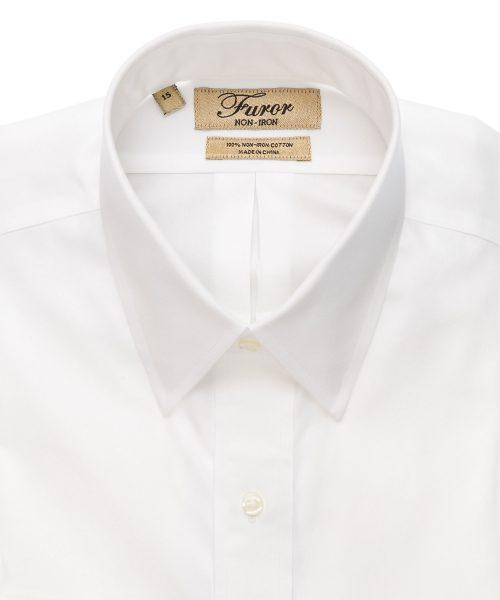 חולצה מכופתרת לגבר בצבע לבן אלגנטית