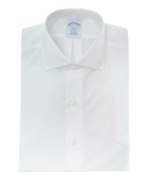 חולצה מכופתרת לגבר Brooks Brothers בצבע לבן גזרה צרה