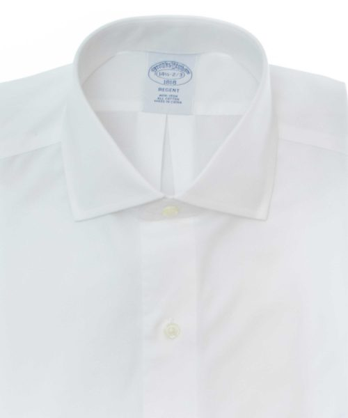 חולצה אוקספורד brooks brothers מכופתרת לגבר בצבע לבן שרוול ארוך