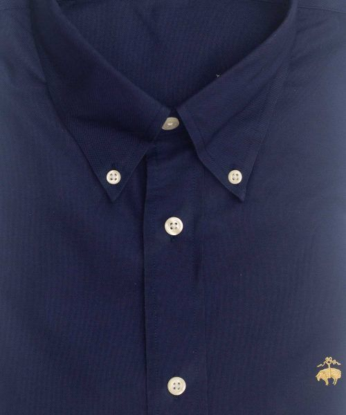 חולצת אוקספורד לגבר בצבע כחול כהה