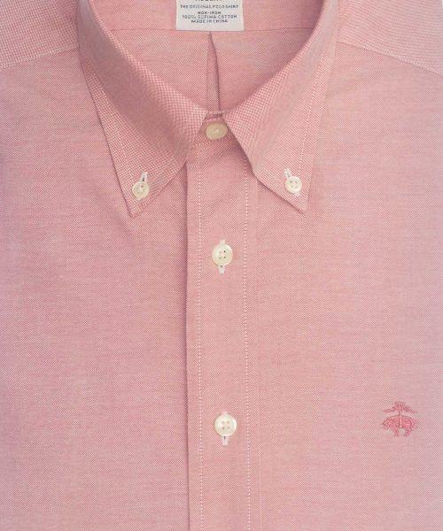 חולצה אלגנטית מכופתרת לגבר בצבע אדום ללא גיהוץ brooks brothers ברוקס ברדרס
