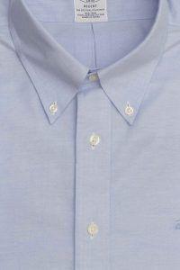 חולצה אלגנטית מכופתרת לגבר בצבע תכלת ג'ינס ללא גיהוץ brooks brothers ברוקס ברדרס
