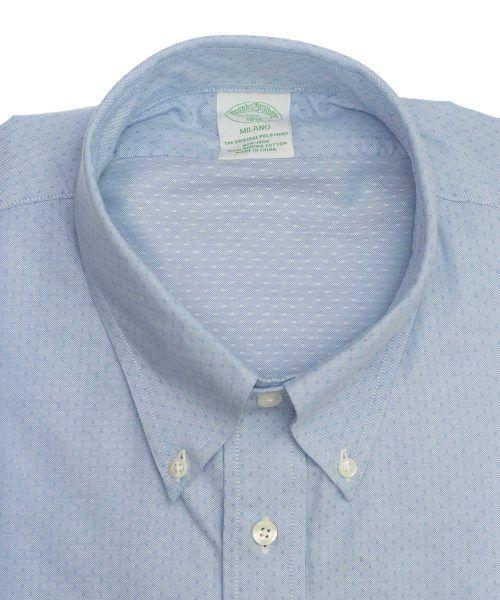 חולצה אלגנטית מכופתרת לגבר בצבע תכלת ללא גיהוץ brooks brothers ברוקס ברדרס