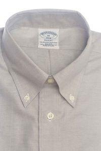 חולצת אוקספורד לגבר בצבע אפור