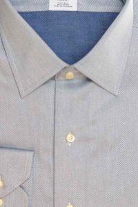 חולצת מכופתרת לגבר בצבע אפור Brooks Brothers ברוקס ברדרס
