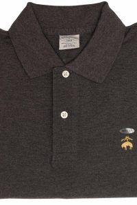 חולצת פולו קלאסית בצבע אפור Brooks Brothers