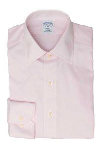 חולצה בצבע וורוד חלק Brooks Brothers