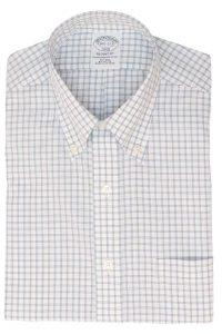 חולצה מכופתרת לגבר בשיבוץ תכלת ולבן Brooks Brothers