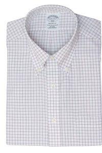 חולצת גברים עם שיבוץ כחול Brooks Brothers