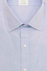 חולצה מכופתרת לגבר בצבע תכלת חלק Brooks Brothers