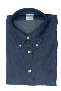 חולצה מכופתרת לגבר בצבע כחול ג'ינס Brooks Brothers