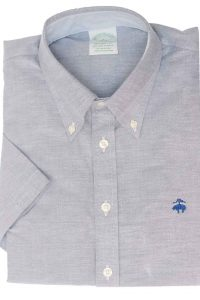 חולצה מכופתרת לגבר בצבע תכלת בהיר Brooks Brothers