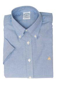 חולצה מכופתרת לגבר בצבע תכלת Brooks Brothers