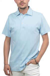 חולצת פולו קלאסית בצבע תכלת Brooks Brothers