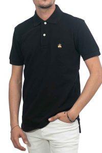 חולצת פולו קלאסית בצבע שחור Brooks Brothers