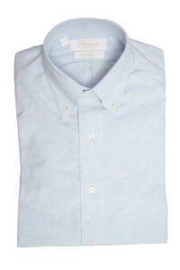 Iחולצה-מכופתרת-בצבע-תכלת-עם-לוגו