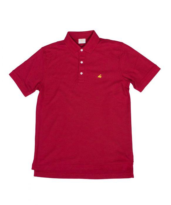 חולצת פולו לגבר של פורור בצבע בורדו